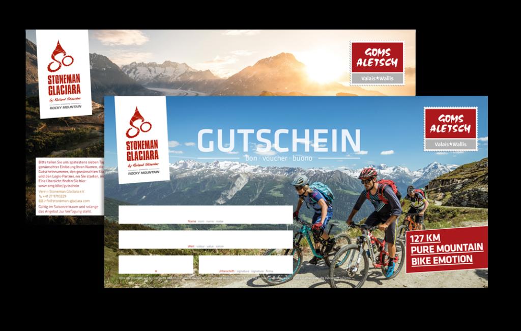 Stoneman Glaciara Mountainbike MTB Abenteuer Schweiz Wallis Goms Gutschein