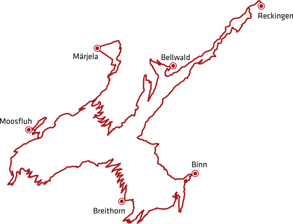 Stoneman Glaciara Mountainbike Strecke