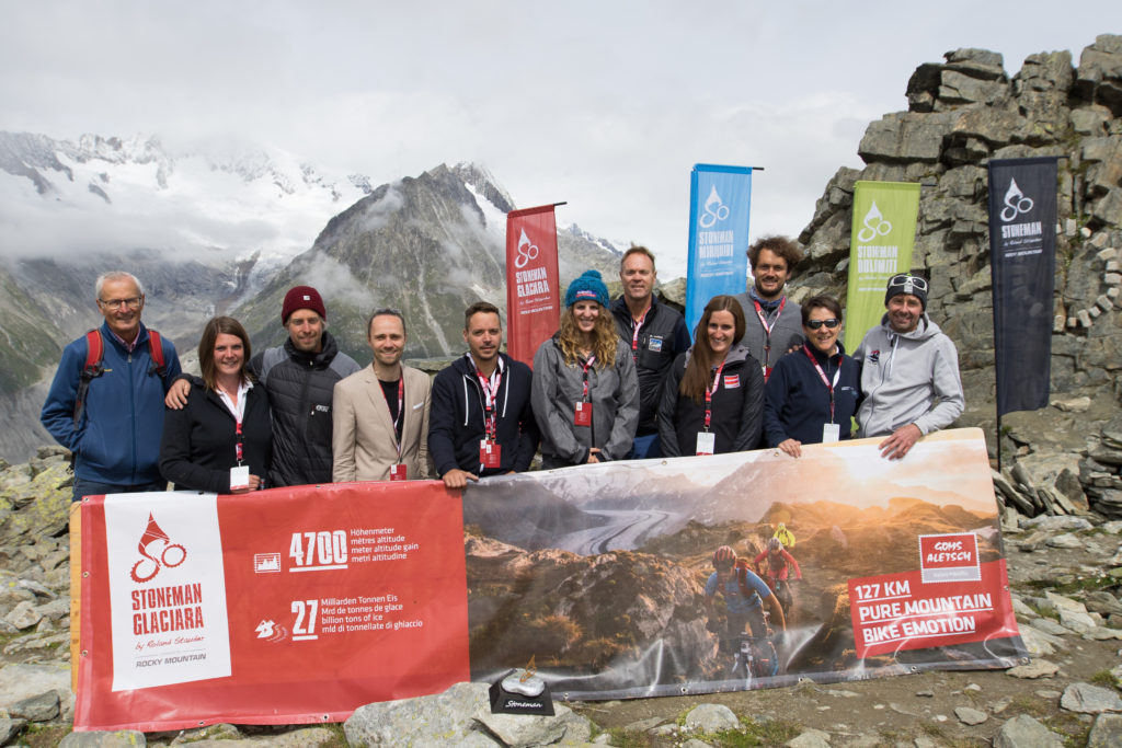 Stoneman Glaciara Mountainbike: Vorstellung der Strecke und des Angebots bei der Pressekonferenz am Großen Aletschgletscher