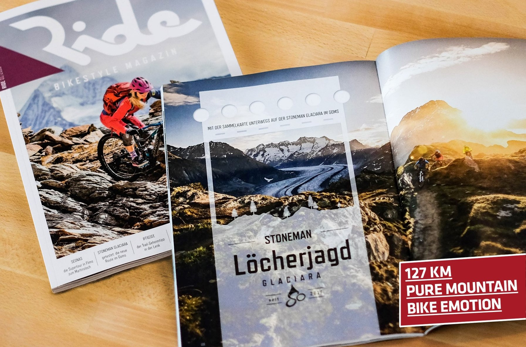 Ride Magazin 2018: Stoneman Glaciara Mountainbike-Tour 2 Tage (Wallis/Schweiz)