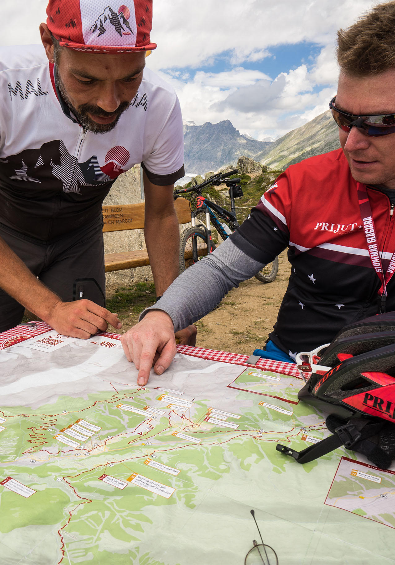 Karte Mountainbike-Tour Stoneman Glaciara MTB (Wallis/Schweiz)